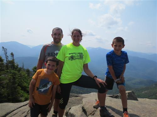 My family at the top of Giant Mountain