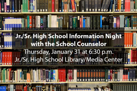 Information Night with the School Counselor Slideshow