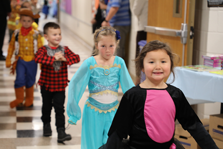 Remsen Elementary School Holds Halloween Parade and Pre-K Celebration