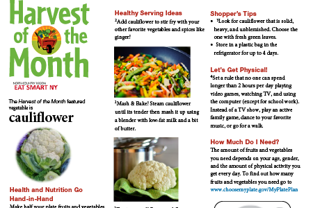 Eat Smart NY Harvest of the Month: Cauliflower